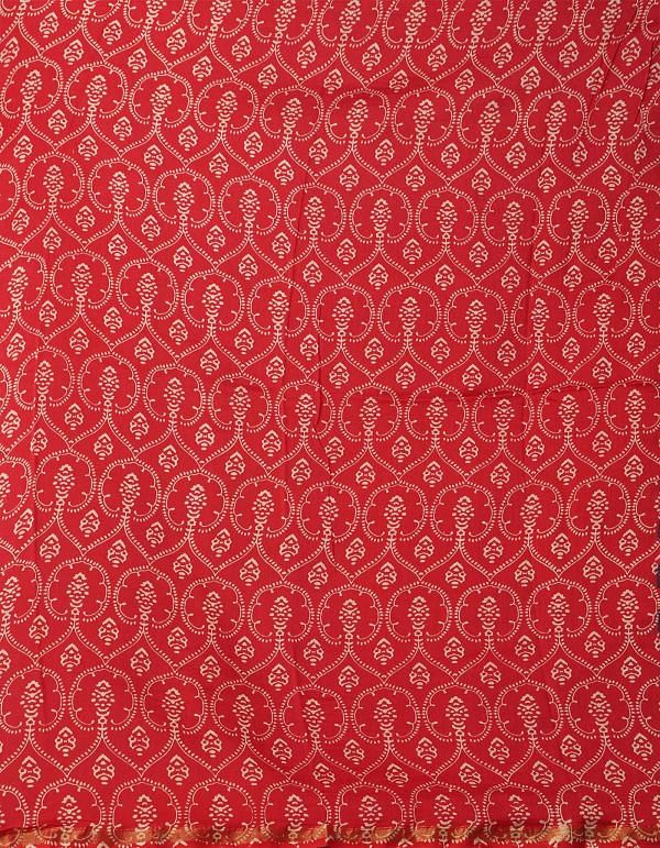 Online Shopping for Multi Pure Ajrakh Chanderi Sico Saree with Ajrakh from Madhya Pradesh at Unnatisilks.comIndia
