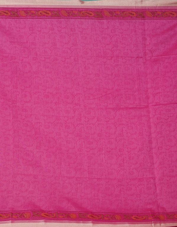 Online Shopping for Pink Pure Vrinda Chanderi Sico Saree with Hand Block Prints from Madhya Pradesh at Unnatisilks.comIndia