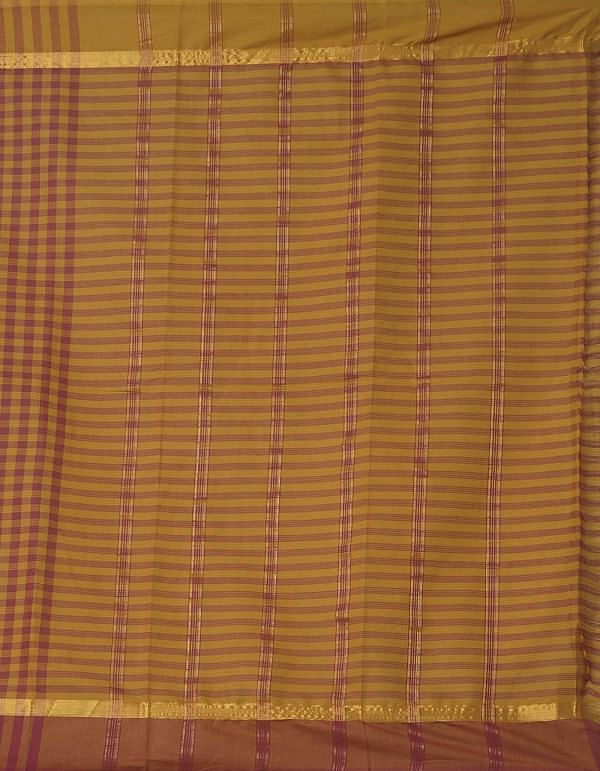 Online Shopping for Red-Yellow Pure Mangalagiri Cotton Saree with Checks with Weaving from Andhra Pradesh at Unnatisilks.comIndia