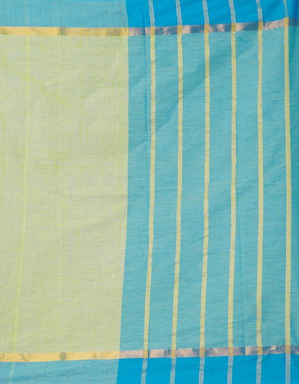 Online Shopping for Yellow Pure Mangalagiri Cotton Saree with Weaving from Andhra Pradesh at Unnatisilks.comIndia
