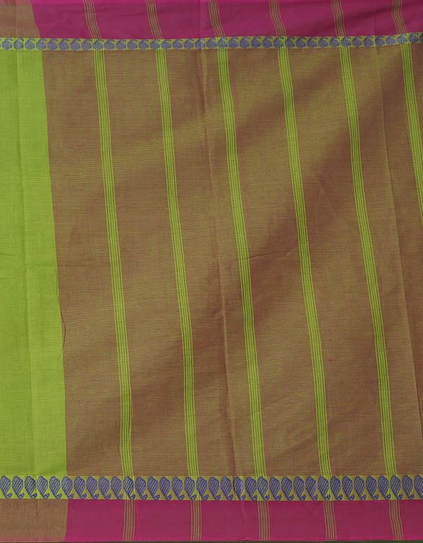 Online Shopping for Green Pure Mangalagiri Cotton Saree with Weaving from Andhra Pradesh at Unnatisilks.comIndia