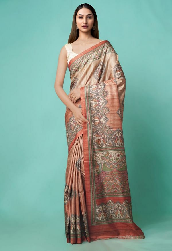 Online Shopping for Orange  Digital Printed Crepe Silk Saree with Fancy/Ethnic Prints from Punjab at Unnatisilks.comIndia