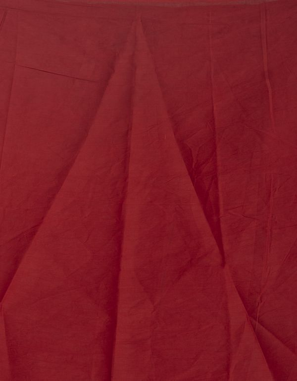 Online Shopping for Red Pure Bagru Cotton  Saree with Batik from Rajasthan at Unnatisilks.comIndia