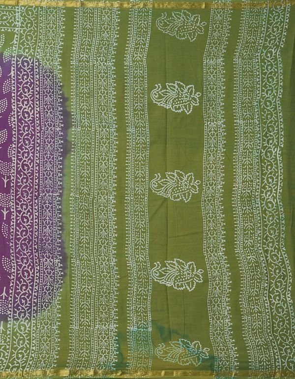 Online Shopping for Purple Pure Hand Block Printed Mulmul Cotton Saree with Hand Block Prints from Rajasthan at Unnatisilks.comIndia