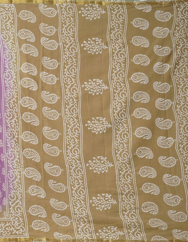 Online Shopping for Pink Pure Hand Block Printed Mulmul Cotton Saree with Hand Block Prints from Rajasthan at Unnatisilks.comIndia