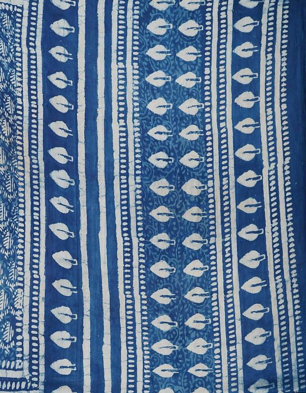 Online Shopping for Indigo Blue Pure Handloom Bengal Tussar Silk Saree with Hand Block Prints from West Bengal at Unnatisilks.comIndia