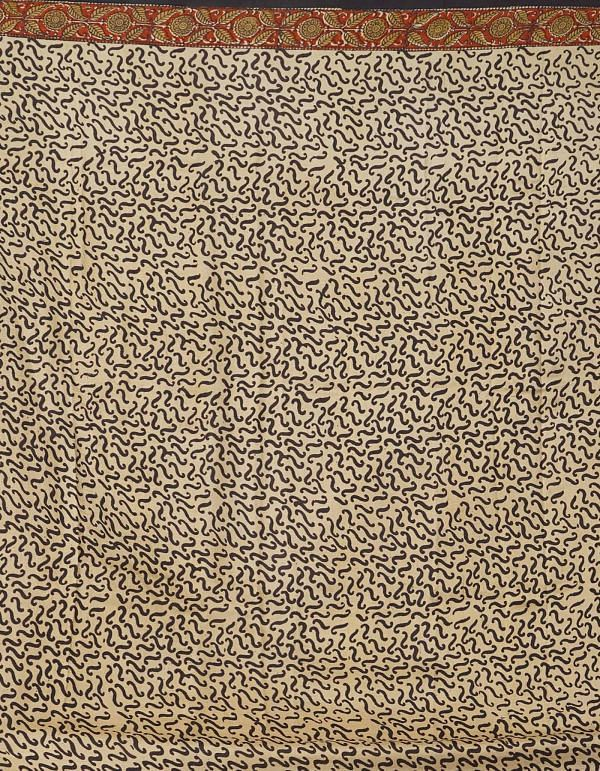 Online Shopping for Brown Pure Handloom Bengal Tussar Silk Saree with Hand Block Prints from West Bengal at Unnatisilks.comIndia