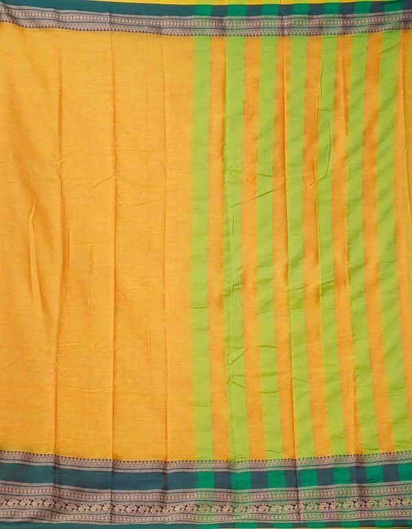 Online Shopping for Yellow Pure Handloom Narayanpet Silk Cotton Saree with Hand Block Prints from Andhra Pradesh at Unnatisilks.comIndia