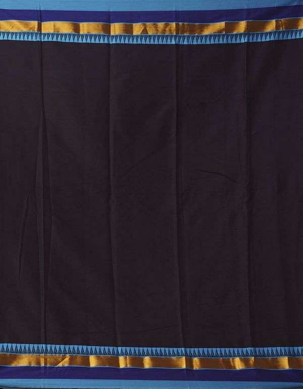Online Shopping for Brown Pure Handloom Narayanpet Silk Cotton Saree with Weaving from Andhra Pradesh at Unnatisilks.comIndia