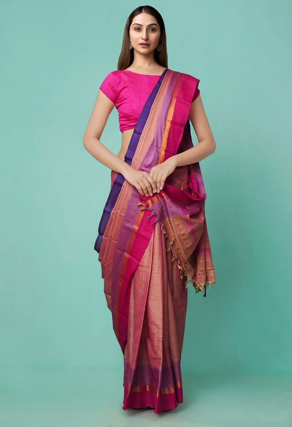 Online Shopping for red Pure Handloom Narayanpet Silk Cotton Saree with Weaving from Andhra Pradesh at Unnatisilks.comIndia