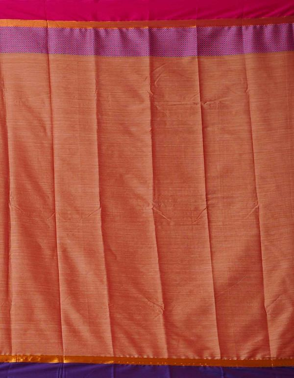 Online Shopping for Brown-Pink Pure Handloom Narayanpet Silk Cotton Saree with Weaving from Andhra Pradesh at Unnatisilks.comIndia