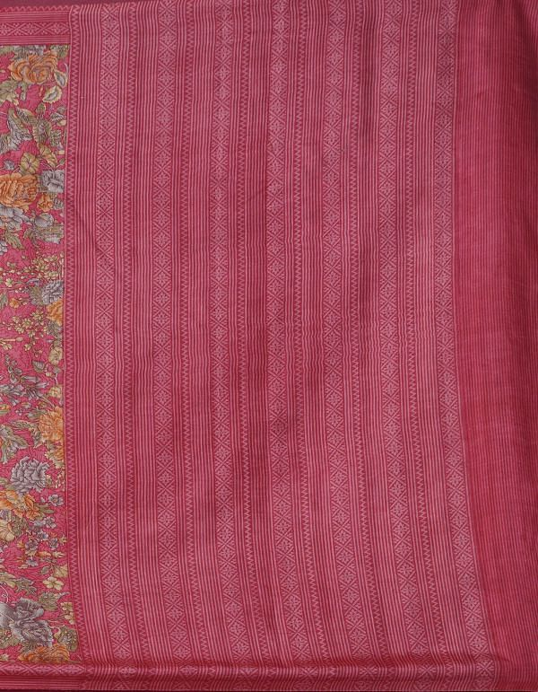 Online Shopping for Pink Pure Handloom Sundarban Bengal Tussar Silk Saree with Hand Block Prints from West Bengal at Unnatisilks.comIndia