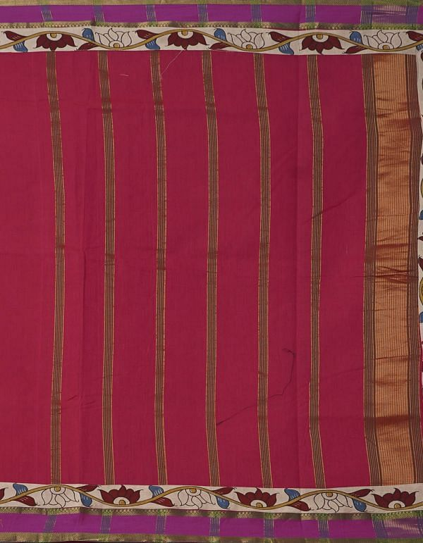 Online Shopping for Red Pure Mangalagiri Cotton Saree with Embroidery from Andhra Pradesh at Unnatisilks.comIndia