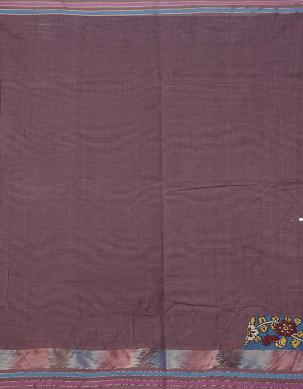 Online Shopping for Mauve Pink Pure Mangalagiri Cotton Saree with Embroidery from Andhra Pradesh at Unnatisilks.comIndia