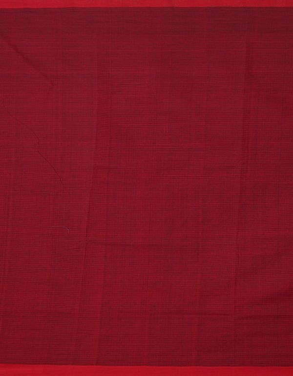 Online Shopping for Red-Black Pure Handloom Mangalagiri Cotton Saree with Checks with Weaving from Andhra Pradesh at Unnatisilks.comIndia
