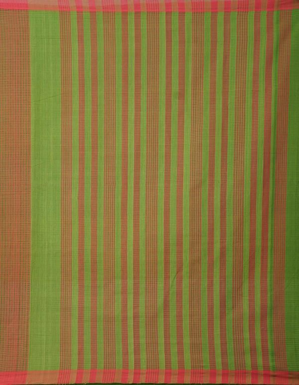 Online Shopping for Red-Green Pure Handloom Mangalagiri Cotton Saree with Checks with Weaving from Andhra Pradesh at Unnatisilks.comIndia