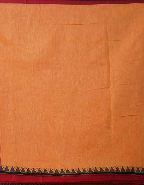 Online Shopping for Orange  Block Printed Bengal Sico Saree with Hand Block Prints from West Bengal at Unnatisilks.comIndia