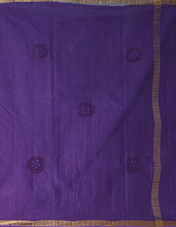Online Shopping for Orange  Croatian Embroidery Kota Cotton Saree with Embroidery from Rajasthan at Unnatisilks.comIndia