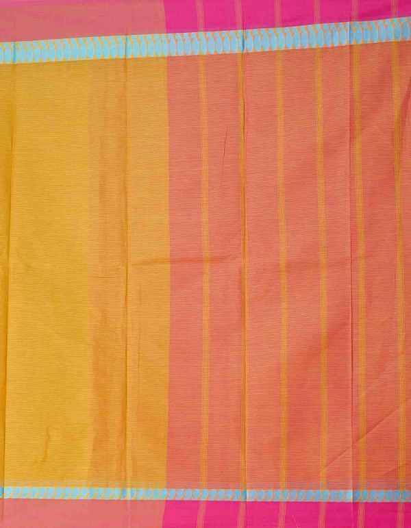 Online Shopping for Brown Pure Mangalagiri Cotton Saree with Weaving from Andhra Pradesh at Unnatisilks.comIndia
