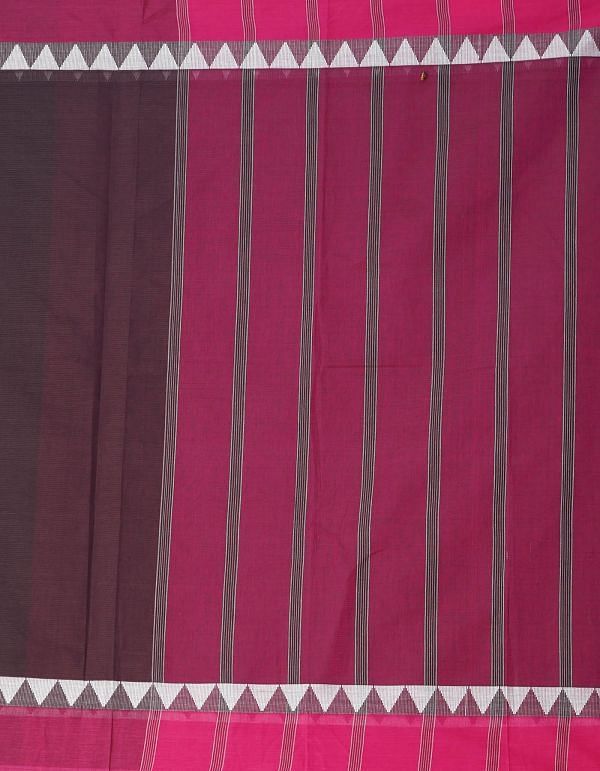 Online Shopping for Burgundy Pure Mangalagiri Cotton Saree with Weaving from Andhra Pradesh at Unnatisilks.comIndia