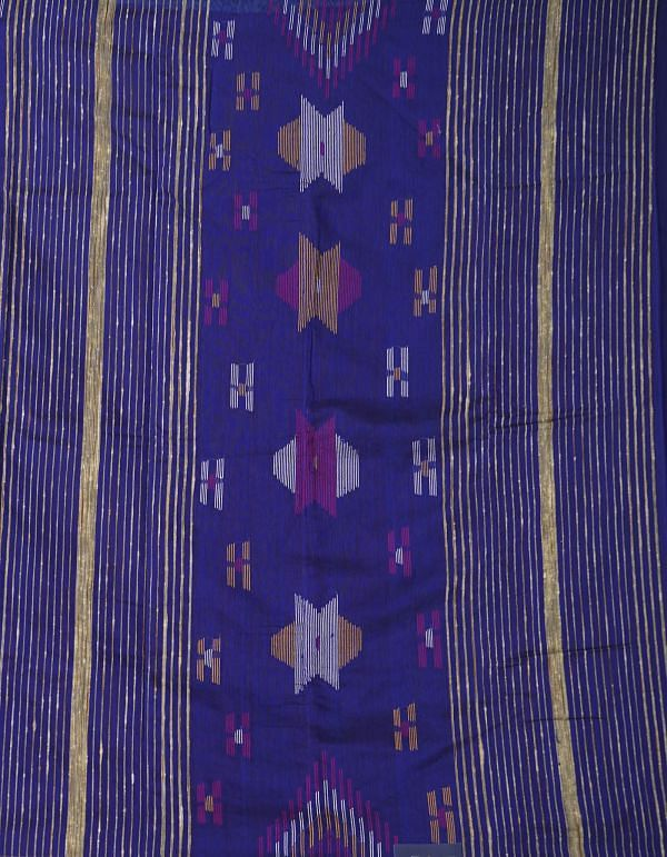 Online Shopping for Blue Pure Handloom Bengal Sico Saree with Weaving from West Bengal at Unnatisilks.comIndia