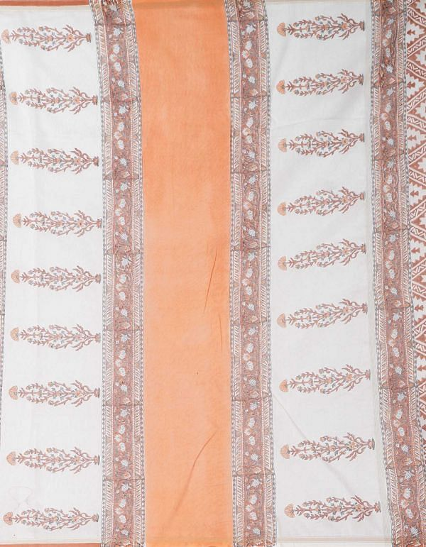 Online Shopping for Red Pure Block Printed Chanderi Sico Saree with Hand Block Prints from Madhya Pradesh at Unnatisilks.comIndia