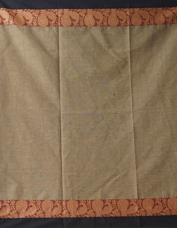 Online Shopping for Brown Pure Handloom Chettinad Cotton Saree with Weaving from Tamilnadu at Unnatisilks.comIndia