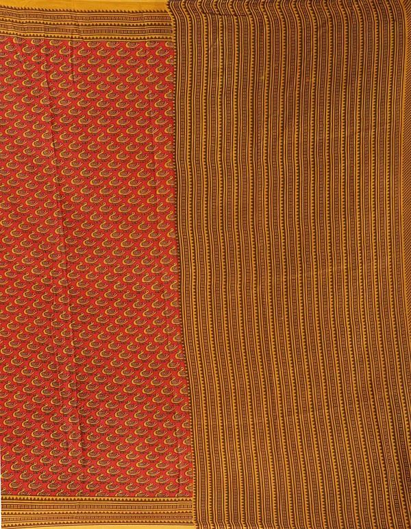 Online Shopping for Red  Printed Bengal Soft Silk Saree with Fancy/Ethnic Prints from West Bengal at Unnatisilks.comIndia