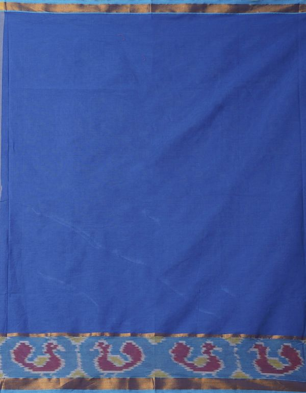 Online Shopping for Blue Pure Handloom Chettinad Cotton Silk Saree with Weaving from Tamilnadu at Unnatisilks.comIndia