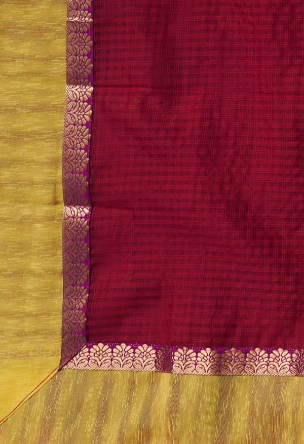 Online Shopping for Red  Kota Cotton Saree with Hand Block Prints from Rajasthan at Unnatisilks.comIndia