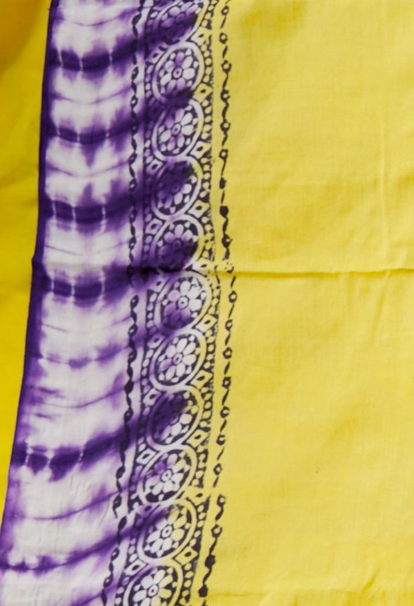 Online Shopping for Violet Pure Shibori Mulmul Cotton Saree with Hand Block Prints from Rajasthan at Unnatisilks.comIndia
