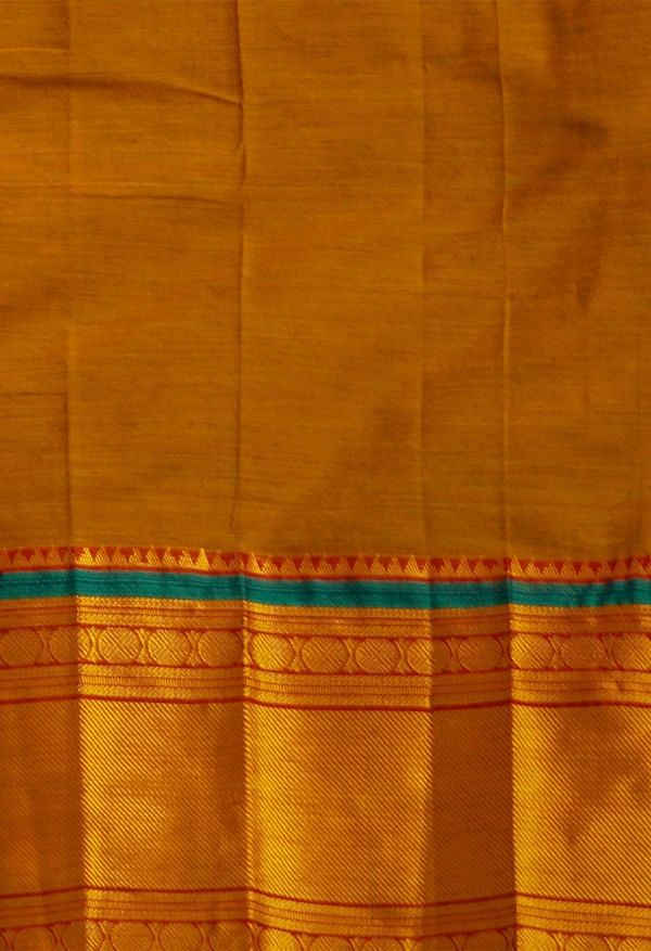 Online Shopping for Orange Pure Narayanpet Silk Cotton Saree with Weaving from Andhra Pradesh at Unnatisilks.comIndia
