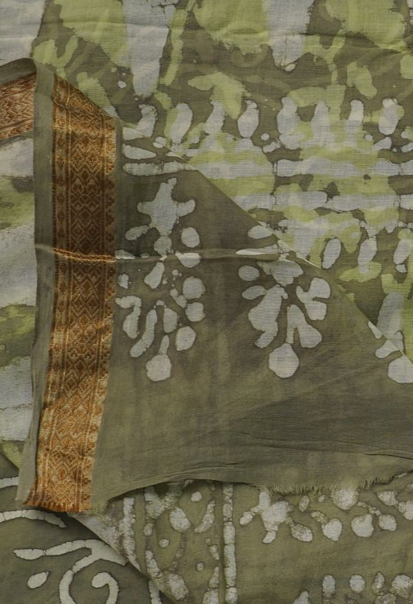 Online Shopping for Green  Preet Dabu Mulmul Cotton Saree with Dabu from Rajasthan at Unnatisilks.comIndia