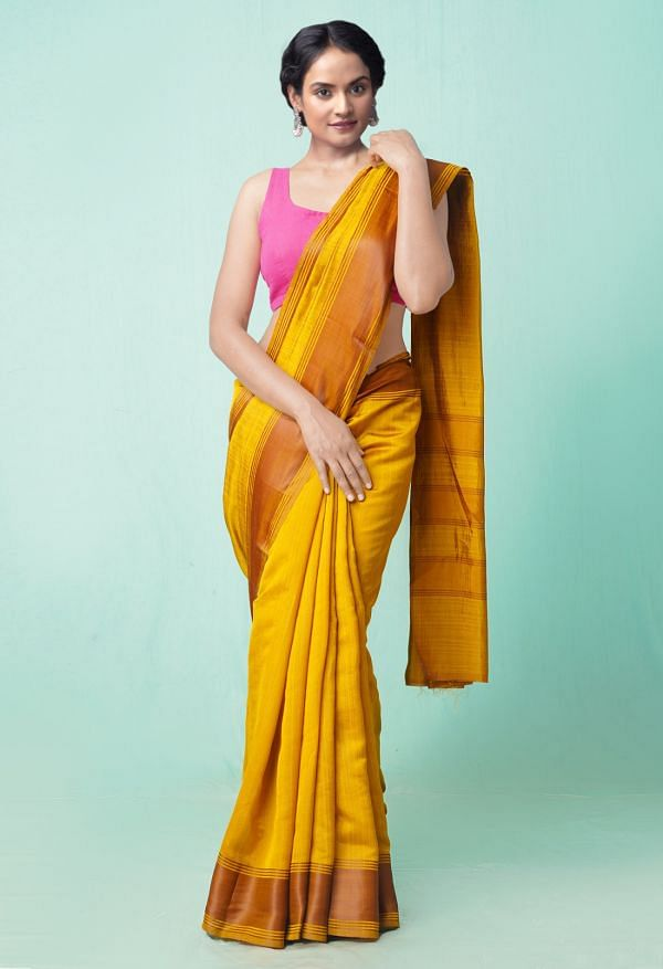 Online Shopping for Yellow  Fancy Art Silk Saree with Weaving from Punjab at Unnatisilks.comIndia