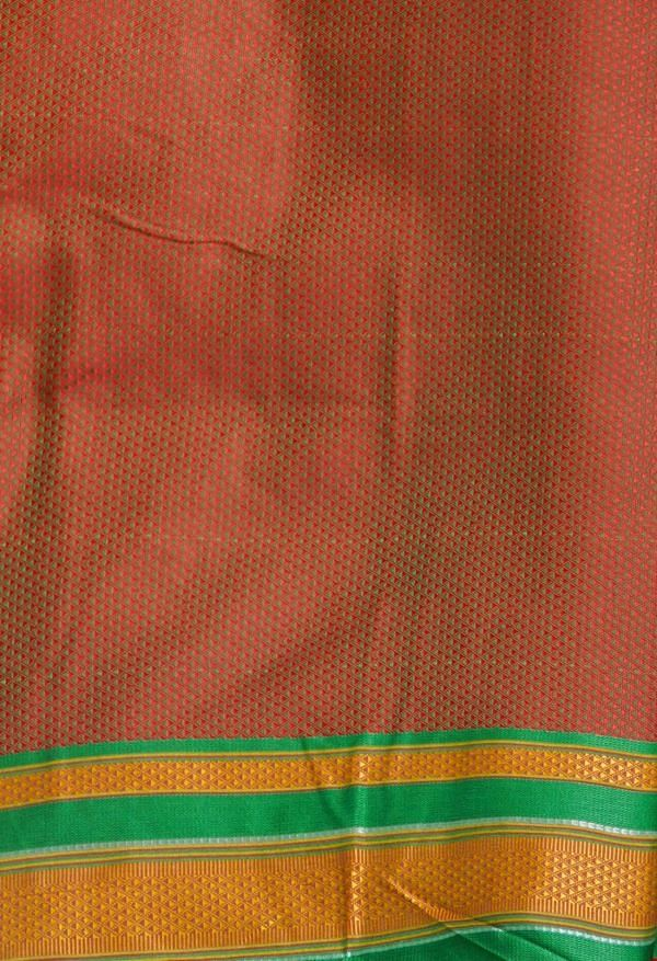 Online Shopping for Red  Fancy Art Silk Saree with Weaving from Punjab at Unnatisilks.comIndia