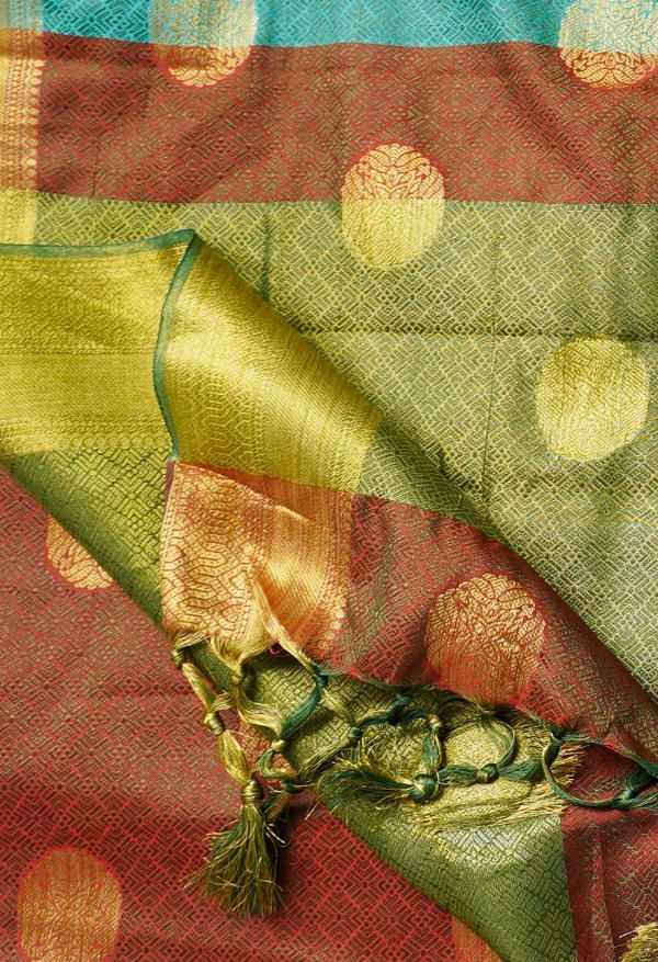 Online Shopping for Blue  Fancy Art Silk Saree with Weaving from Punjab at Unnatisilks.comIndia