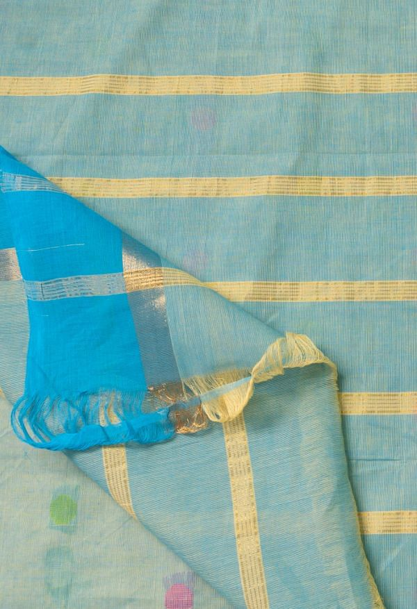 Online Shopping for Orange Pure Pavani Chettinad Cotton Saree with Weaving from Tamilnadu at Unnatisilks.comIndia