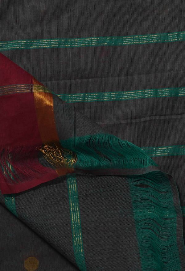 Online Shopping for Green Pure Pavani Chettinad Cotton Saree with Weaving from Tamilnadu at Unnatisilks.comIndia