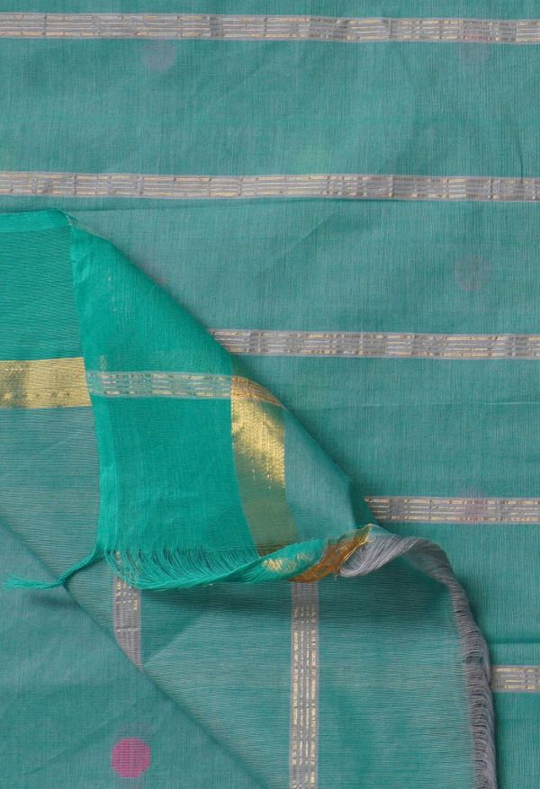 Online Shopping for Grey Pure Pavani Chettinad Cotton Saree with Weaving from Tamilnadu at Unnatisilks.comIndia