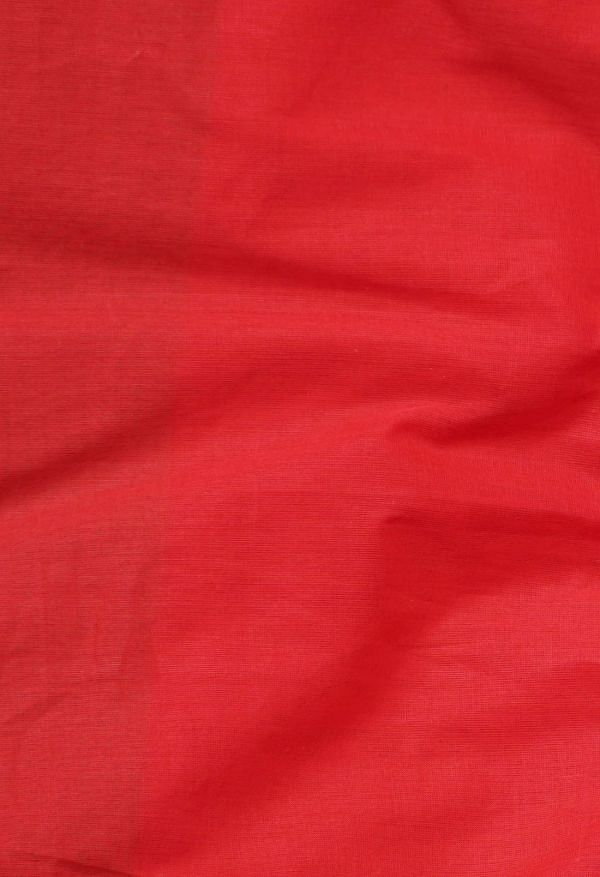 Online Shopping for Red Pure Handloom Pavani Chettinad Cotton Saree with Weaving from Tamilnadu at Unnatisilks.comIndia