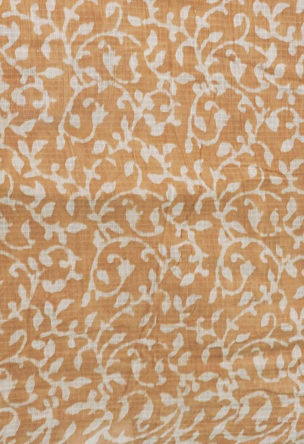 Online Shopping for Brown Pure Preet Dabu Mulmul Cotton Saree with Bagru from Rajasthan at Unnatisilks.comIndia