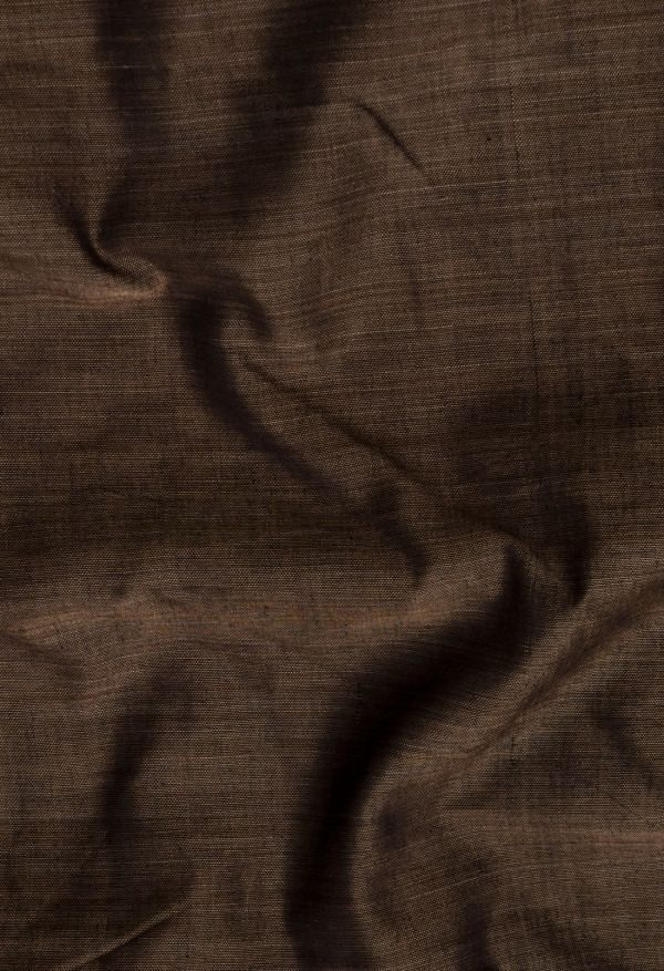 Online Shopping for Brown Pure Handloom Narayanpet Cotton Saree with Weaving from Kanchi at Unnatisilks.comIndia