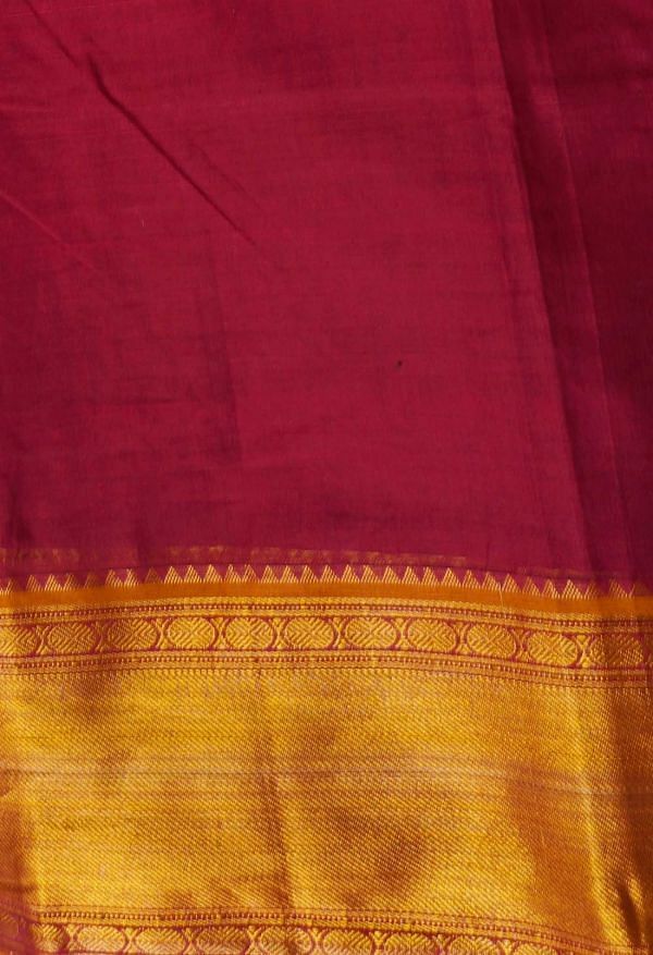 Online Shopping for Maroon Pure Handloom Narayanpet Cotton Saree with Weaving from Andhra Pradesh at Unnatisilks.comIndia