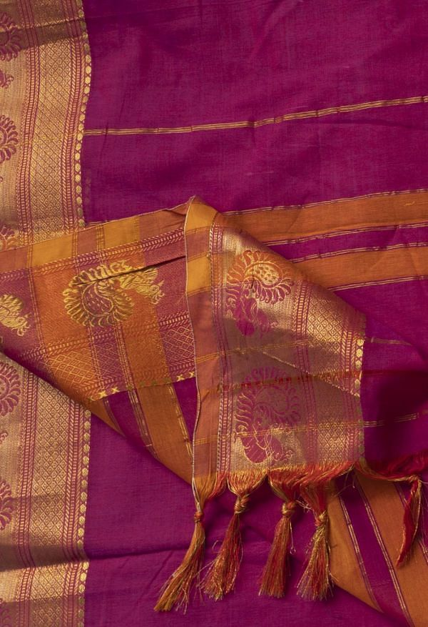 Online Shopping for Pink Pure Handloom Narayanpet Cotton Saree with Weaving from Kanchi at Unnatisilks.comIndia