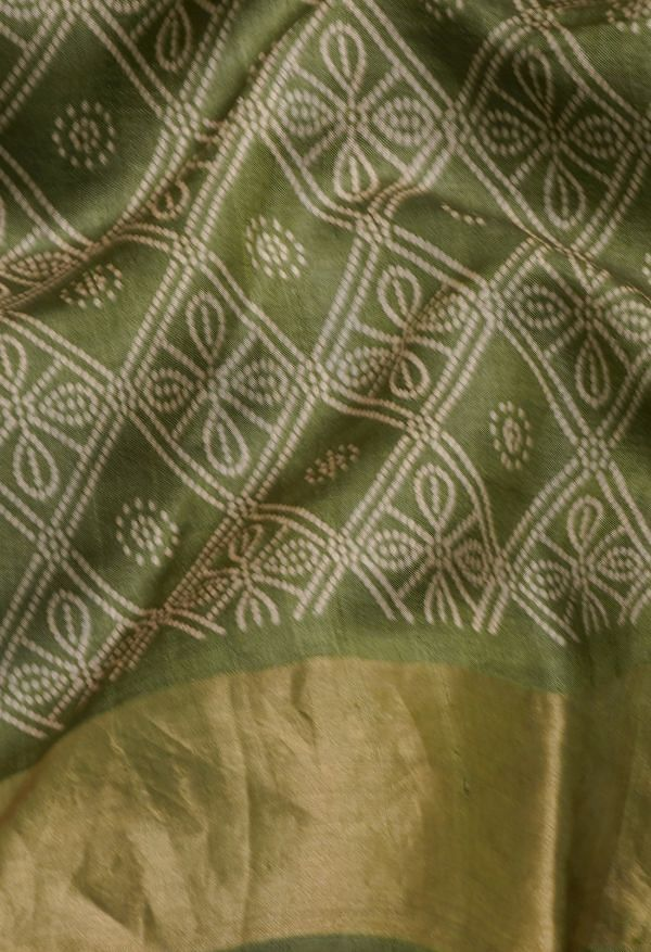 Online Shopping for Green Pure Handloom Block Printed Bengal Tussar Silk Saree with Hand Block Prints from West Bengal at Unnatisilks.comIndia