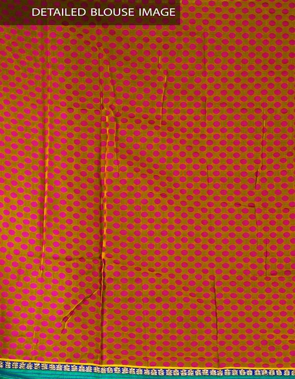 Online Shopping for Golden Yellow-Pink Rajasthani Net Saree with Patola Weaving from Rajasthan at Unnatisilks.com, India