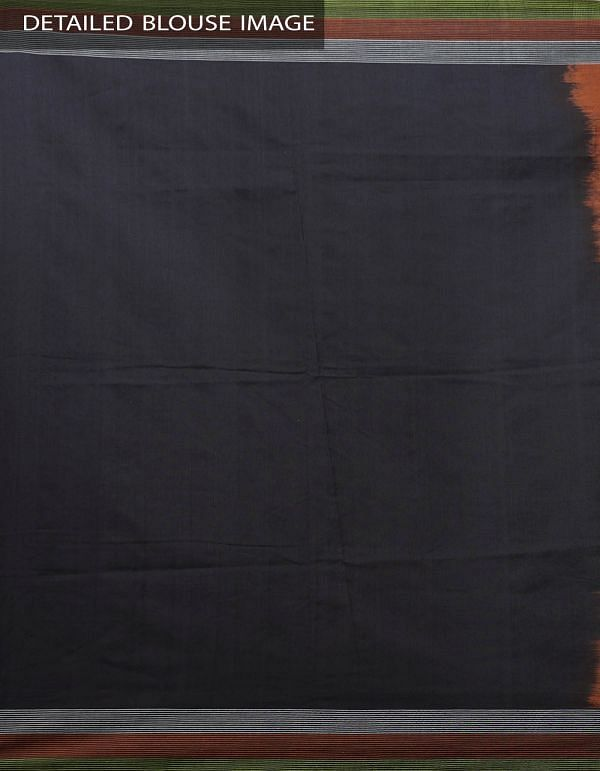 Brown Pure Handloom pochampally Ikat Cotton Saree With Intricate Designs-UNT010