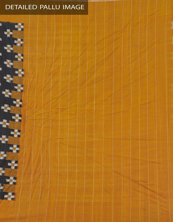Online Shopping for Black Pure Handloom Pochampally Ikat Cotton Saree With Intricate Design with Ikat Weaving from Andhra Pradesh at Unnatisilks.com India