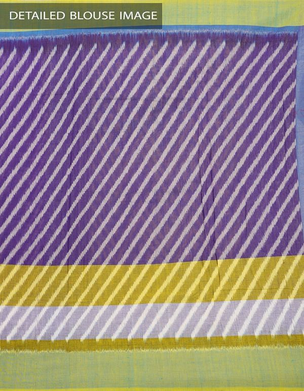Online Shopping for Violet Pure Handloom Pochampally Ikat Cotton Saree With Intricate Designs with Ikat Weaving from Andhra Pradesh at Unnatisilks.com India