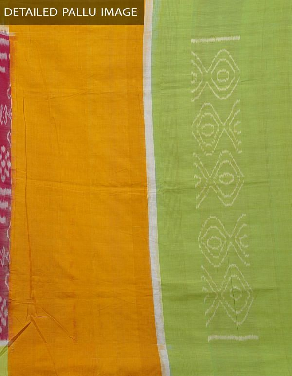 Online Shopping for Red Pure Handloom Pochampally Ikat Cotton Saree With Intricate Designs with Ikat Weaving from Andhra Pradesh at Unnatisilks.com India